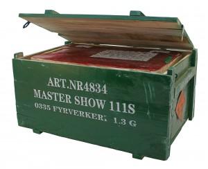 Linders fyrverkerier trälåda MasterShow